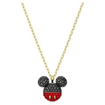Swarovski Mickey, Μαύρο, Επιχρυσωμένο, 5559176 κολιέ Swarovski, τιμές, ποικιλία σχεδίων, προσφορές