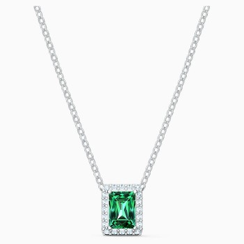 Swarovski Angelic Rectangular Necklace, Green, 5559380 κολιέ Swarovski, τιμές, ποικιλία σχεδίων, προσφορές