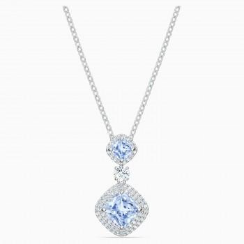 Swarovski Angelic, Μπλε, Επιροδιωμένο, 5559381 κοσμήματα, κολιέ Swarovski, τιμές, ποικιλία σχεδίων, προσφορές