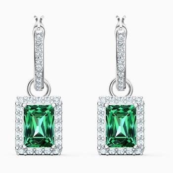 Swarovski Angelic Rectangular Pierced Eariings, Green, 5559834 κοσμήματα σκουλαρίκια Swarovski, τιμές, ποικιλία σχεδίων, προσφορές