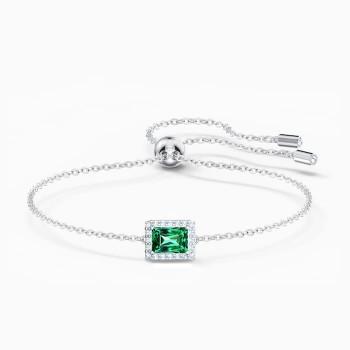 Swarovski Angelic Rectangular, Πράσινο, Επιροδιωμένο 5559836 κοσμήματα, βραχιόλι Swarovski , τιμές, ποικιλία σχεδίων, προσφορές