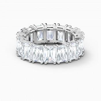 Swarovski Vittore Wide, Λευκό, Επιροδιωμένο, 5562129 δαχτυλίδι Swarovski, ποικιλία σχεδίων, τιμές, προσφορές