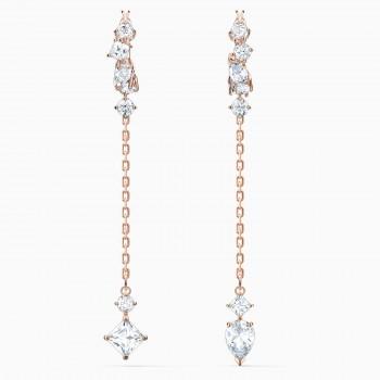 Swarovski Attract Pierced, Λευκό, 5563118 κοσμήματα, σκουλαρίκια Swarovski, τιμές, ποικιλία σχεδίων, προσφορές