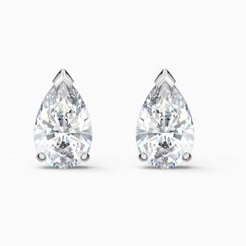 Swarovski Attract Pear Stud Pierced, Λευκά, Επιροδιωμένα, 5563121 κοσμήματα, σκουλαρίκια SWAROVSKI, τιμές, ποικιλία σχεδίων, προσφορές