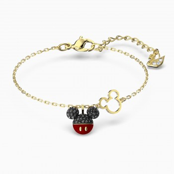 Swarovski Mickey, Μαύρο, Επιχρυσωμένο, 5566689 κοσμήματα, βραχιόλι Swarovski , τιμές, ποικιλία σχεδίων, προσφορές
