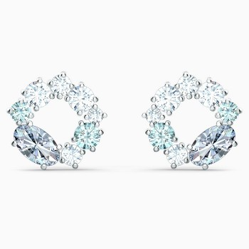 Swarovski Attract Circle Stud Pierced, Multicolored, 5570943 κοσμήματα, σκουλαρίκια Swarovski, τιμές, ποικιλία σχεδίων, προσφορές