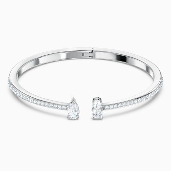 Swarovski Attract Cuff, White, 5572664 κοσμήματα, βραχιόλι Swarovski , τιμές, ποικιλία σχεδίων, προσφορές