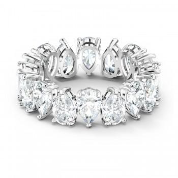 Δαχτυλίδι Swarovski Vittore Pear, Λευκό, Επιροδιωμένο, 5572825 δαχτυλίδι Swarovski, ποικιλία σχεδίων, τιμές, προσφορές