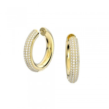 Swarovski Dextera Hoop, Λευκά, Επιχρυσωμένα, 5618305 κοσμήματα σκουλαρίκια Swarovski, τιμές, ποικιλία σχεδίων, προσφορές
