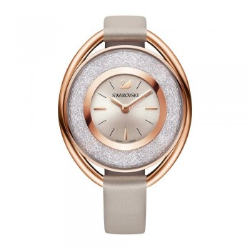 SWAROVSKI Crystalline Oval, Leather Strap, Grey 5158544