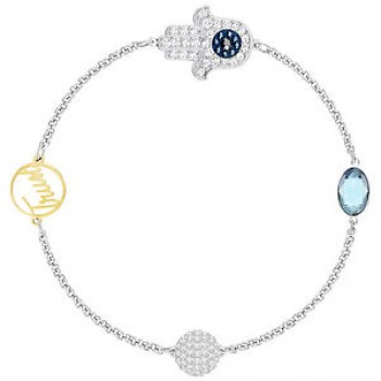 Swarovski Remix Collection Hamsa Hand Symbol, Blue, Mixed plating 5365759