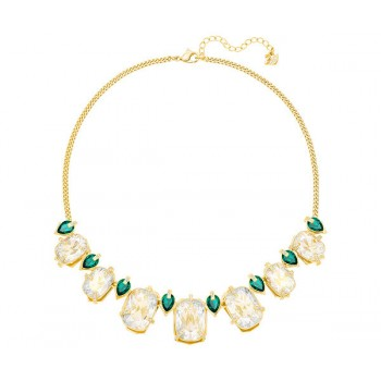 Swarovski  Haven Necklace, Large, Green, Gold plating 5288945