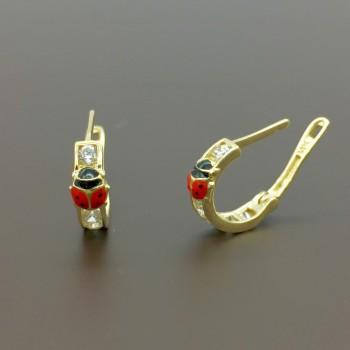 Χρυσά παιδικά σκουλαρίκια κρίκοι