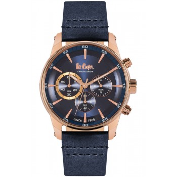 Lee Cooper Blue Leather Chronograph LC06361.499
