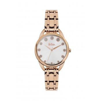 LEE COOPER Ladies Crystals Rose Gold Stainless Steel Bracelet LC06389.430