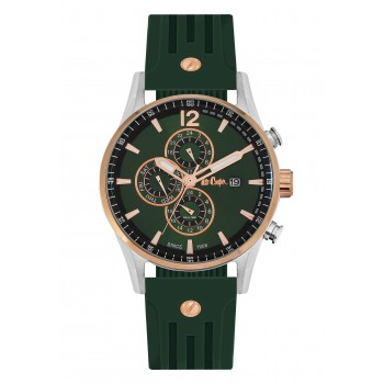 Lee Cooper Multifunction Green Rubber Strap LC06419-375