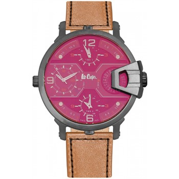 Lee Cooper Multifunction Brown Leather Strap LC06440.055