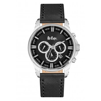 Lee Cooper Multifunction Black Leather Strap LC06444.351