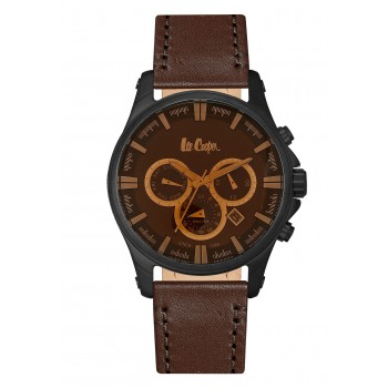 Lee Cooper Multifunction Brown Leather Strap LC06444.652
