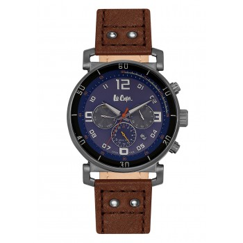 Lee Cooper Multifunction Brown Leather Strap LC06450-092