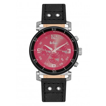 Lee Cooper Multifunction Black Leather Strap LC06450.361
