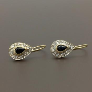 Χρυσά κρεμαστά σκουλαρίκια