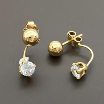 Μοντέρνα χρυσά σκουλαρίκια