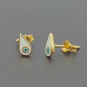 Χρυσά σκουλαρίκια μάτι