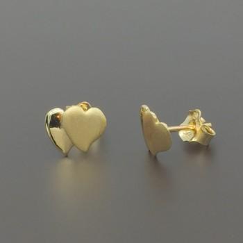 Λευκόχρυσα σκουλαρίκια 14Κ