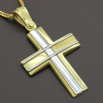 Χρυσός Σταυρός 14Κ ΤΡΙΑΝΤΟΣ