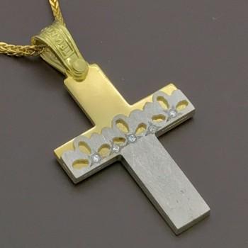 Σταυρός Χρυσός 14Κ ΤΡΙΑΝΤΟΣ