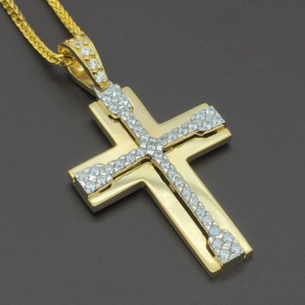 Χρυσός Σταυρός 14Κ  Fa Cad'oro